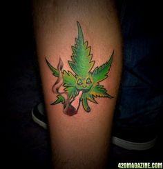 Marijuana Tattoo