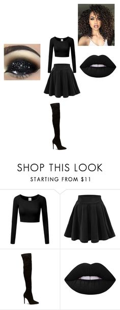 """""""dark night"""" by cute-outfits-forever on Polyvore featuring Lime Crime and ASAP"""