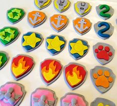 24 Fondant Paw Patrol cupcake toppers by SweetCakeArts on Etsy