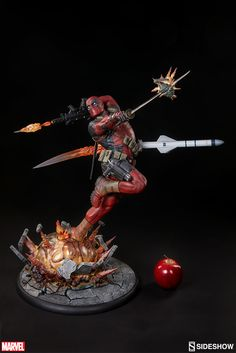 Marvel Deadpool Heat-Seeker Premium Format(TM) Figure by Sid Bd Comics, Marvel Comics, Marvel Statues, Sideshow Collectibles, Cool Toys, Action Figures, Artwork, Cosplay, Steampunk