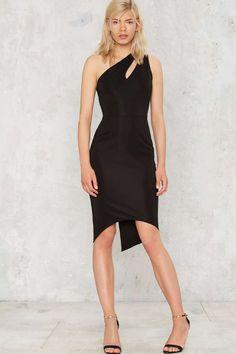 Nasty Gal Cruz Asymmetric Dress - Black - Clothes   Going Out   Midi + Maxi   Dresses   All Party