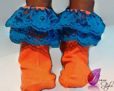 Gator socks, baby socks, team spirit, sunshine state, bold colors, bright colors,  embelished socks, toddler socks, sports style