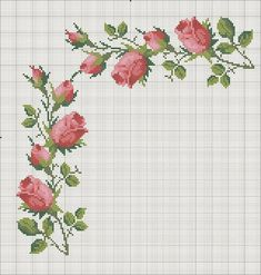 New Crochet Edging Stitches Pictures Ideas Funny Cross Stitch Patterns, Cross Stitch Borders, Cross Stitch Rose, Cross Stitch Flowers, Modern Cross Stitch, Cross Stitch Designs, Cross Stitching, Cross Stitch Embroidery, Hand Embroidery