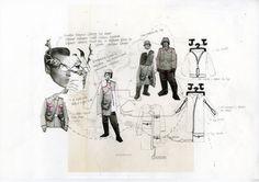 Fashion Sketchbook - fashion design process with research sketches - garment design development; Sketchbook Layout, Textiles Sketchbook, Sketchbook Pages, Fashion Sketchbook, Sketchbook Inspiration, Fashion Sketches, Sketchbook Ideas, Fashion Illustrations, Fashion Portfolio Layout