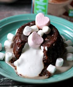 Hot Chocolate Marshamllow Lava Cakes