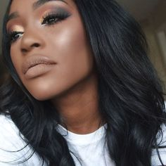 @_sabrinamills is channeling her inner melanin goddess! ✨ She used our Artisan Color Baked Blush in Toasted Almond. Double tap if you're a fan of her look! #regram #blackradiancebeauty #brbeauty #melaninbeauty #blush #motd