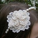 Vintage Lace And Pearl Tiara Band - women's jewellery