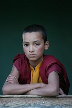 Buddhist monk in Ladakh, India.  Not Tibet, but in the Himalayas, with a very similar culture.