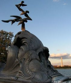 Navy - Merchant Marine Memorial at Lady Bird Johnson Park in Arlington, Virginia near Washington D.C. by Ernesto Begni Del Piatta located in James M. Goode's Virginia Suburbs