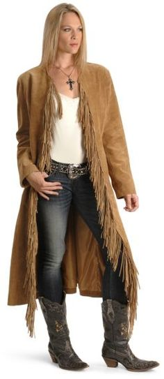 Oh yeah, I'm in love  Fringe Suede Leather Duster - Sheplers