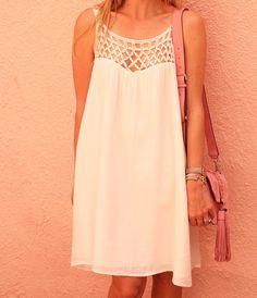 BB Dakota white dress.  The most perfect white Summer dress found at meetat-thebarre.com