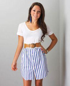 Mens shirt into skirt. love it!