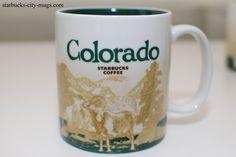 A source for Starbucks City Mugs collectors Starbucks City Mugs, Global Icon, City Icon, Colorado, Coffee Mugs, Tableware, Travel Mugs, Denver, Sheep