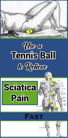 Use a Tennis Ball to Relieve Sciatica Pain Fast - Women Daily Magazine Health And Fitness Tips, Health And Wellness, Lower Belly Workout, Spine Health, Sciatica Pain, Health Remedies, Herbal Remedies, Natural Remedies, Natural Medicine