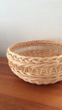 Pin by あけ on かご Rattan Basket, Wicker, Upcycled Crafts, Diy And Crafts, Basket Willow, Paper Basket, Basket Decoration, Sewing Projects For Beginners, Christmas Desserts