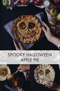 A yummy and fun twist thats easy as pie to make! The post Spooky Halloween Apple Pie appeared first on Halloween Desserts. Halloween Desserts, Plat Halloween, Halloween Apples, Creepy Halloween Food, Halloween Dishes, Hallowen Food, Spooky Food, Spooky Treats, Halloween Baking