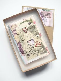 Needle case hand and machine embroidered little by maxollieandme, £14.95