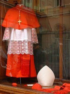 Vestments, Cardinal Roman Catholic Church Cassock, mitre, rochet
