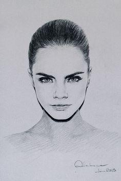 Cara. Drawing.   By Nadia Kalakina
