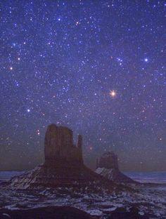 desert night; monument valley