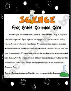 First Grade Science Common Core