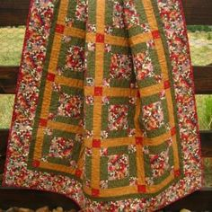 Garden Blooms Quilt by PatchworkMountain for $175.00
