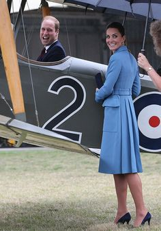 Kate and Wills seemed VERY chuffed to be exploring the planes in Blenheim [Getty]