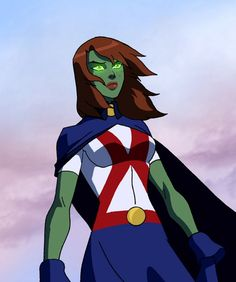 Miss Martian is Green....