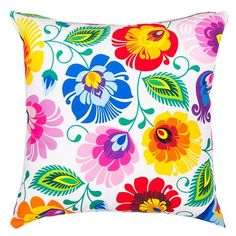 Polish Folk Art Accent Pillow - Taste of Poland - 1