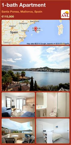 1-bath Apartment in Santa Ponsa, Mallorca, Spain ►€115,000 #PropertyForSaleInSpain