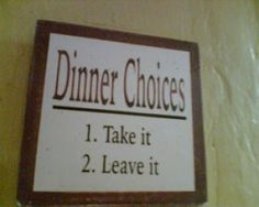 Dinner Choices: Funny English Signs, Funny Pinoy, Funny Filipino Pictures, Tagalog jokes, Pinoy Humor pinoy jokes #pinoy #pinay #Philippines #funny #pinoyjoke