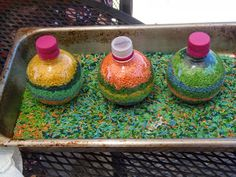 colored rice bottle craft