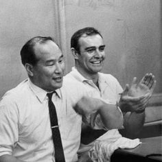 Mas Oyama And James Bond how cool is that :) Sean Connery was one of Mas Oyama students and obtain a rank of Black Belt, not an easy task under this legendary martial artist militaristic boot camp school in Japan.