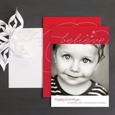 Swirly Delight Christmas Photo Card by Elli