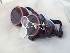 Post Apocalyptic Goggles Silver and Copper by SteampunkWasteland, $29.99