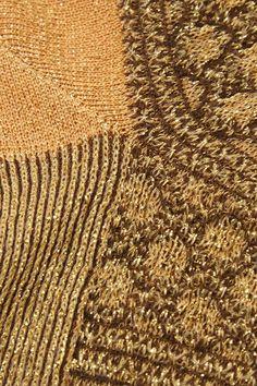 Missoni - Metallic Crochet-knit Socks - Mustard - M