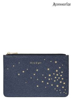 Buy Accessorize Blue Shine Bright Zip Top Coin Purse from the Next UK online shop Star Print, Next Uk, Zip Around Wallet, Coin Purse, Stars, Stuff To Buy, Blue, Shopping, Coin Purses