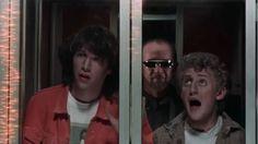 hipstershiett: Bill & Ted's Excellent Adventure - Stephen Herek The Lost Boys 1987, Alex Winter, Popcorn, Ted, Santa, Adventure, Adventure Movies, Adventure Books