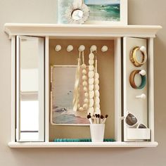 Rotating Mirror Jewelry Storage | PBteen