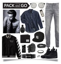 """""""Street Wear"""" by madeinmalaysia ❤ liked on Polyvore featuring Levi's, Scotch & Soda, New Era, Off-White, NIKE, Herschel Supply Co., Calvin Klein, Prada, Y-3 and Faliero Sarti"""