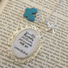 Winnie the Pooh Friendship Quote Necklace