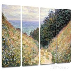 Footpath 4 piece gallery-wrapped canvas Print by Claude Monet at AllPosters.com