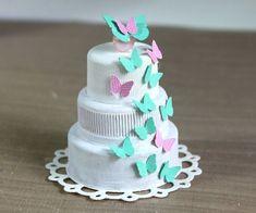 Make Mini Cakes From Plastic Bottle Tops