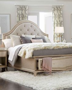 Montane Tufted Queen Bed with Drawers Handcrafted bed.Boxed weight approximately 279 lbs. Bedroom Furniture Sets, Bedroom Bed, Furniture Design, Bedroom Decor, Bedroom Ideas, Custom Furniture, Luxury Furniture, Furniture Ideas, Narrow Bedroom