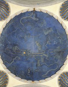 "Giuliano d'Arrigo, known as ""il Pesello"" (1367-1446) Northern hemisphere, 1442-1446 Florence, San Lorenzo, Old Sacristy Full-size replica Opera Laboratori Fiorentini  This fresco shows the night sky over Florence as it looked on 4 July 1442, marking René d'Anjou's propitious arrival in the city. The artist probably relied on Paolo dal Pozzo Toscanelli's astronomical advice."