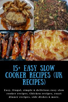 Easy slow cooker recipes (UK recipes) – Katykicker – Famous Last Words Crock Pot Recipes, Slow Cooker Recipes Uk, Slow Cooker Recipe Book, Slow Cooker Roast, Uk Recipes, Healthy Slow Cooker, Budget Recipes, Easy Recipes, British Recipes