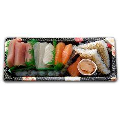 Sashimi Jura Sushis, avec thon, dorade, saumon, St-Jacques, cre - Jura... ❤ liked on Polyvore