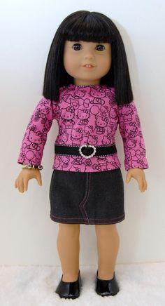 American Girl Doll Clothes 18 inch Doll by TwirlyGirlDollDesign