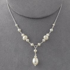 Sterling Pearl Drop Necklace - Women's Clothing, Unique Boutique Styles & Classic Wardrobe Essentials