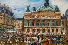 GENIN LUCIEN ( 1894 / 1958 ) Place of the Opera of Paris